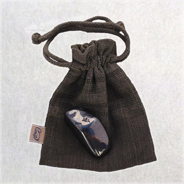 【マッサージ 入浴 お守り】うさと巾着付き テラヘルツ石