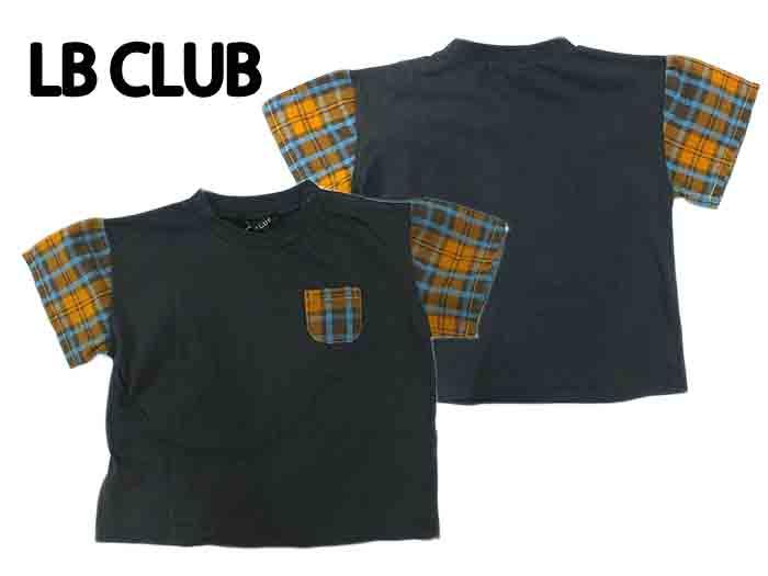 40%OFF メール便可 2021夏物新作 チェック配色Tシャツ 半袖シャツ 直営店 世界の人気ブランド s34857 丸高衣料 80cm~120cm