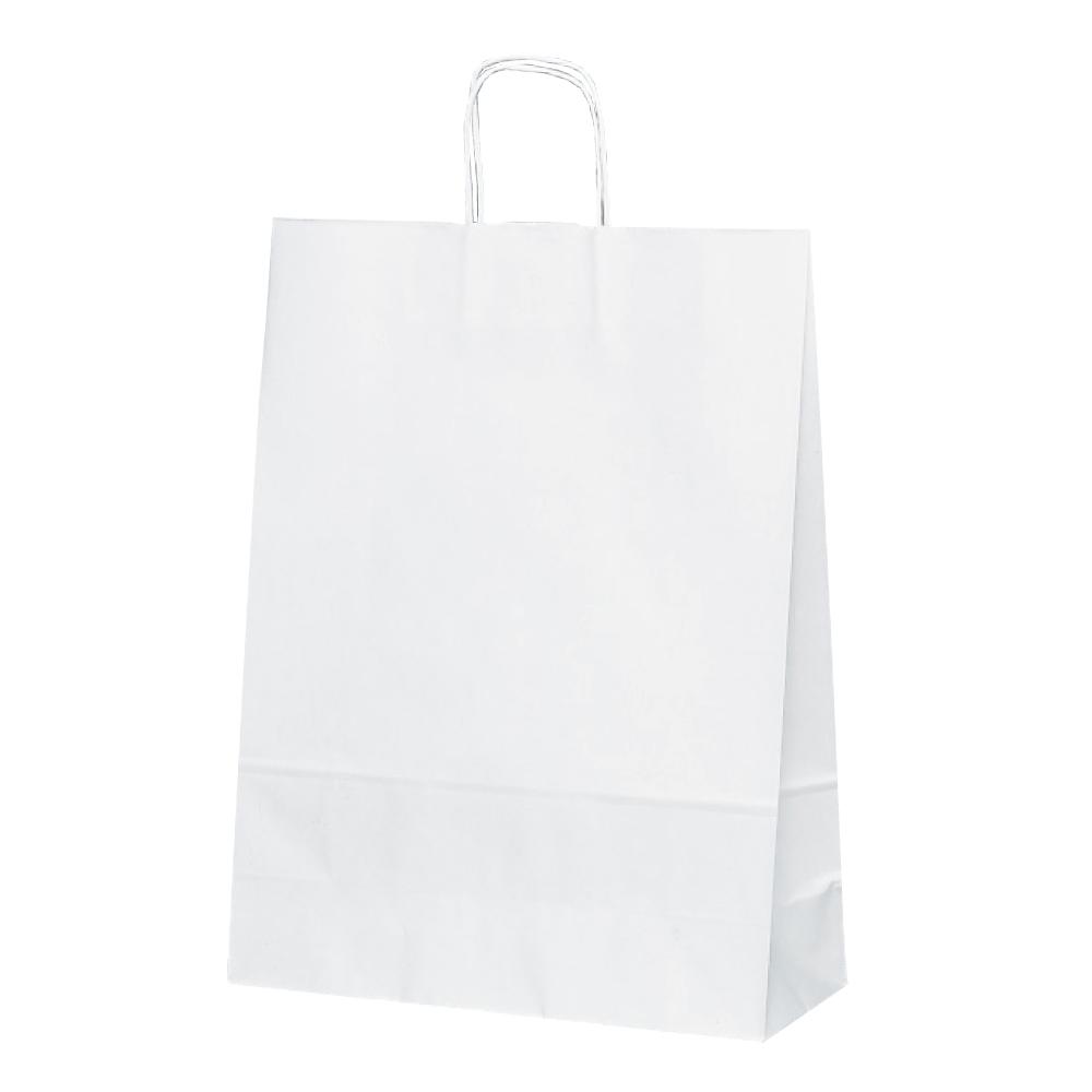 紙袋 手提げ T-12 割り引き 白無地 大好評です 店舗資材 ギフトにも最適業務用 手提げ袋 50枚入り 業務用 T-12白無地 紙手提げ袋 50枚入りシンプルな片艶紙を使用