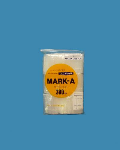 ユニパックマーク 0.04mmは白ベタ部分にボールペンで文字が書ける記入窓付きのチャック付きのポリエチレン袋です 人気急上昇 材質はLDPE 低密度ポリエチレンです ユニパック 限定価格セール MARK-A 300枚入