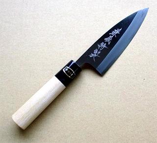 【送料無料】兼義作 水牛口金出刃包丁 120mm
