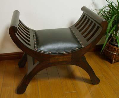スツール 木製 アンティーク (カルティーニチェア(S)クッション付き) アジアン家具 バリ クラブチェア 椅子 チェア チーク材 エスニック リゾート