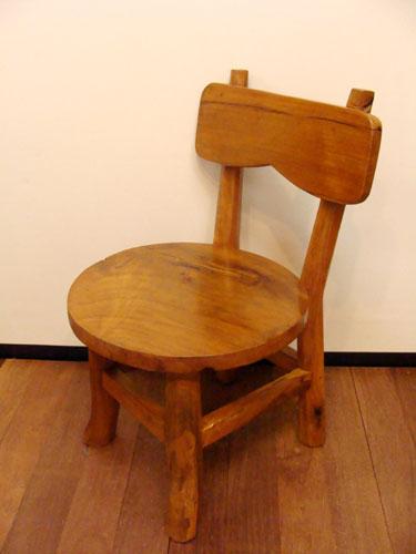 ダイニングチェア 低め 子供 無垢 木製 (チーク材ナチュラルチェア(M)) アジアン家具 バリ イス 椅子 花台 木製 チーク エスニック リゾート