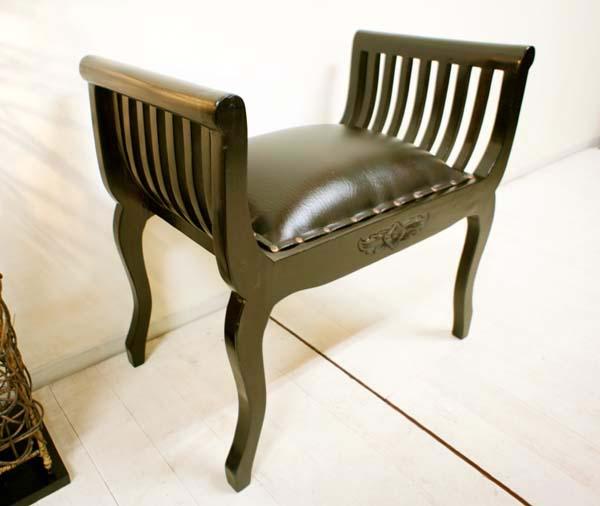 イス チェア スツール 木製 アンティーク (REM カルティーニチェア(猫足 クッション付き)) アジアン家具 バリ クラブチェア 椅子 チーク材 猫足 エスニック リゾート