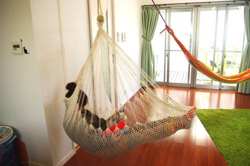 アジアン雑貨 バリ (チェアハンモック スタータセット全2色) 室内 屋外 インテリアファブリック エスニック リゾート