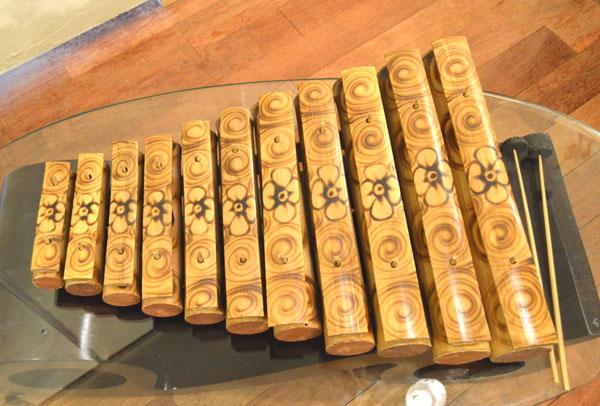 アジアン雑貨 バリ (ジェゴグL) 置物 オブジェ 楽器 シロフォン 木琴 インテリア エスニック リゾート