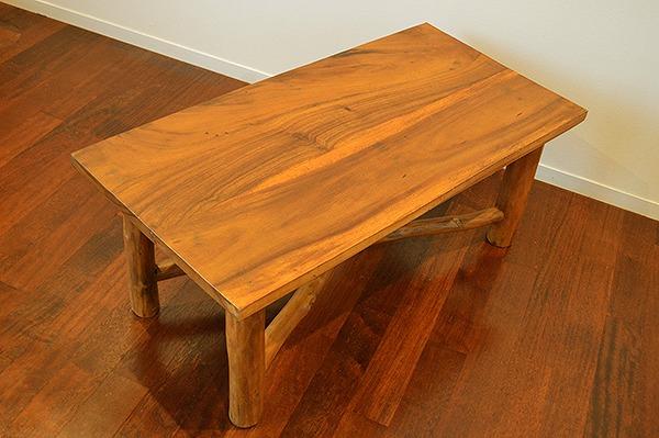 アジアン家具 木製 バリ (AR原木テーブル100cm) おしゃれ インテリア エスニック ローテーブル センターテーブル リゾート