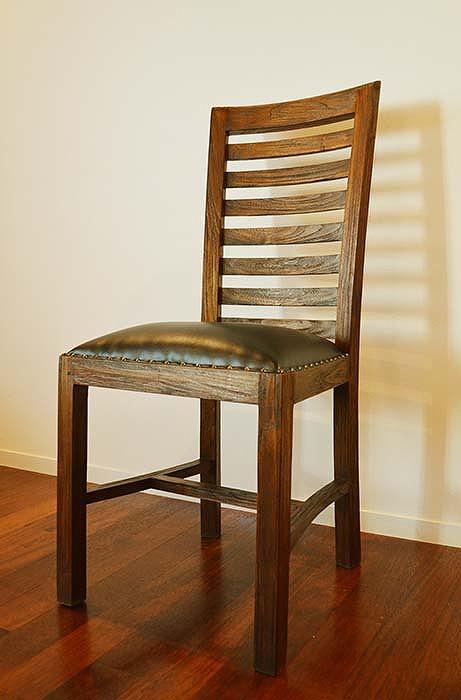 いす 椅子 イス デザインチェア リビングチェア アンティーク アジアン家具 バリ ♪ファベルダイニングチェア(レザー座面)♪ おしゃれ インテリア エスニック 牛革 インテリア雑貨 デザイン家具 リビング ダイニング