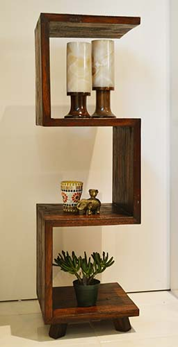 アジアン家具 木製 バリ ♪チーク材 ジザイラックL♪ 【送料無料】 おしゃれ インテリア エスニック 収納ラック