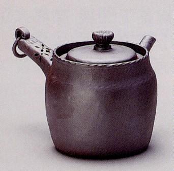 急須 環手萬古 約180cc 共茶こし 陶山窯 陶器製