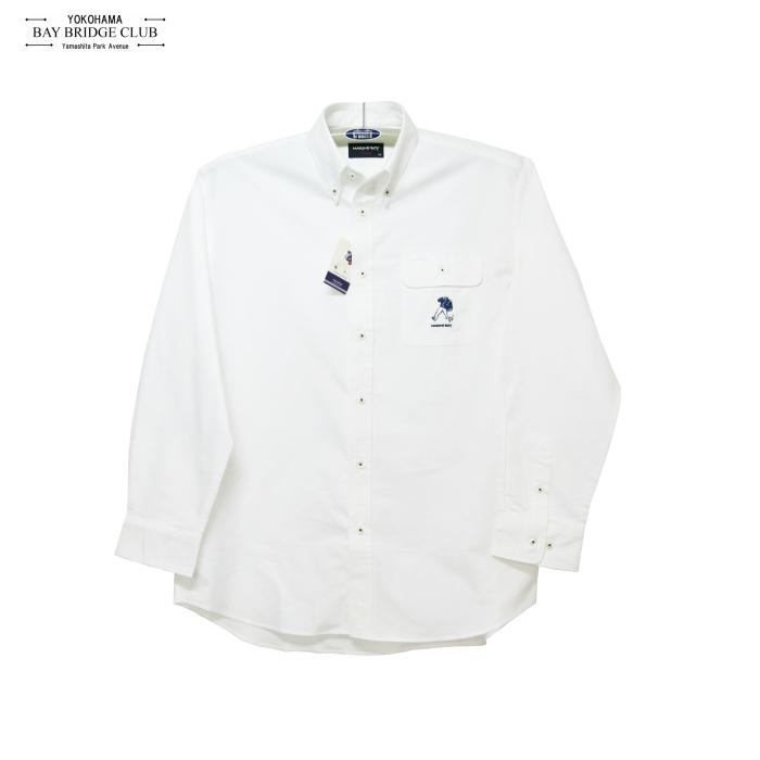 メンズ大きいサイズオックスマリンボーイ刺繍長袖シャツ