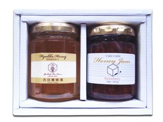 砂糖のかわりに蜂蜜を使用した贅沢なジャムと国産蜂蜜のヘルシーでおいしいギフトセットです 国産百花蜂蜜とはちみつジャムギフトセット お祝い お礼 敬老の日ギフト お返し 景品 粗品 至上 お祝い返しにも 毎週更新 御誕生日プレゼント 販促 内祝い
