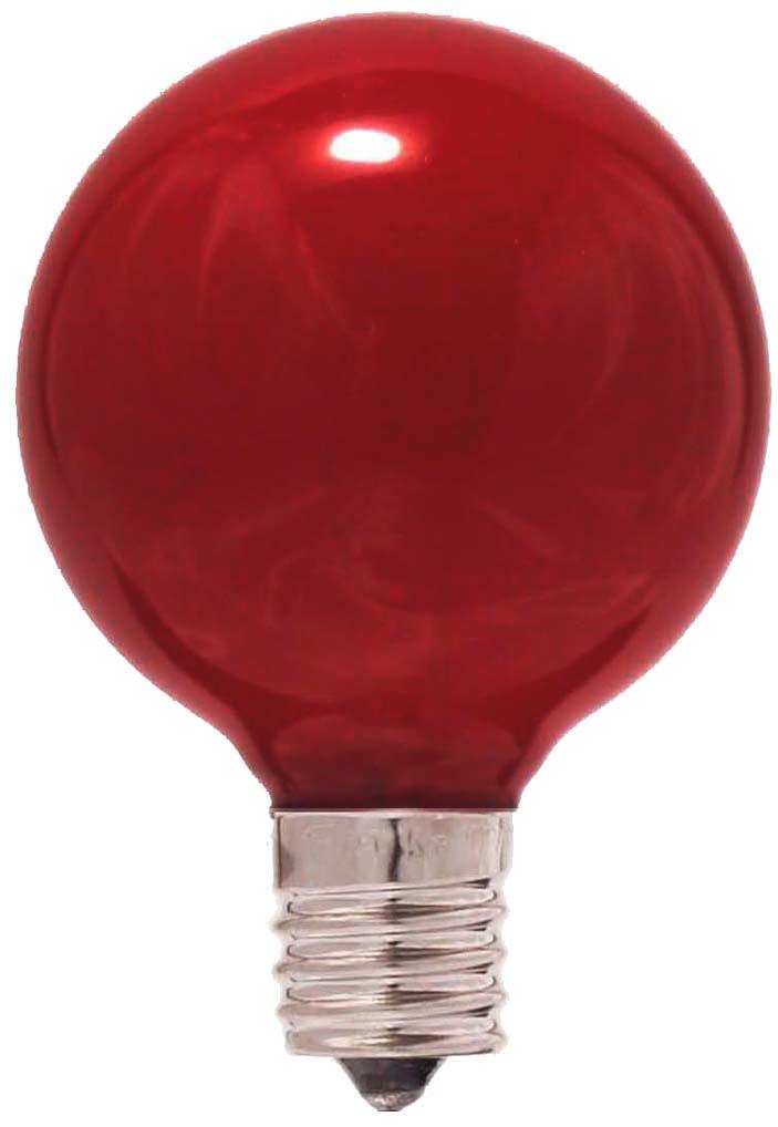 ボールランプ G50 耐熱カラーG50 E17 100/110V-25W(R)耐熱透明染お得な25個セット!!