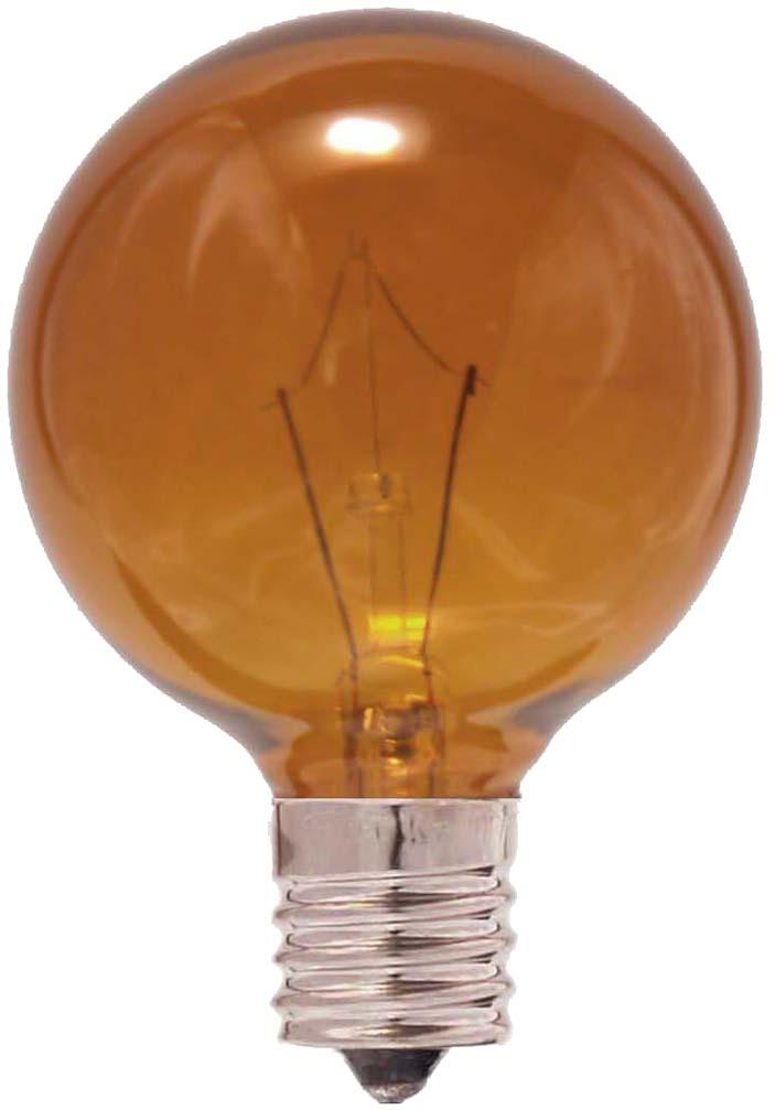 ボールランプ G50 耐熱カラーG50 E17 100/110V-25W(A)耐熱透明染お得な25個セット!!