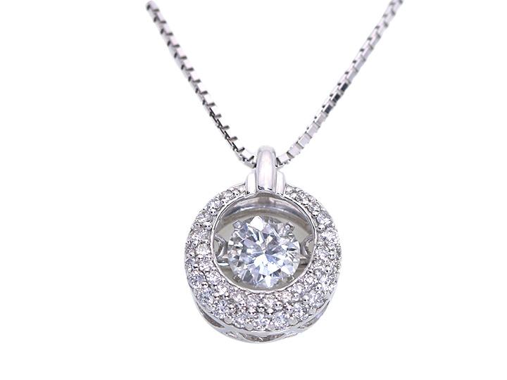 ★クーポンで20%OFF対象★ダイヤの中で煌く ダイヤモンド0.25ct K18WGダンシングストーンネックレス 受注品/Ycollectionワイコレクション/送料無料 動画