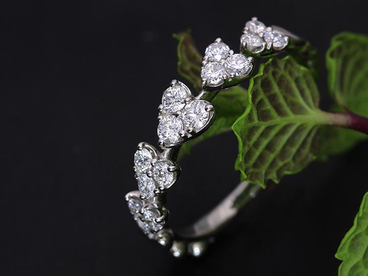 ★クーポンで20%OFF対象★H&C ハート&キューピット ダイヤモンド0.4ctリング 指輪 ハートのエタニティ K18(WG・PT素材対応) 眩しいほどの輝き 受注商品/Ycollectionワイコレクション/送料無料