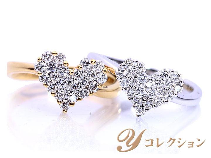 ★クーポンで20%OFF対象★美しいダイヤで描くハートシェイプ ダイヤモンド0.4ct・0.5ct K18 or K18WGリング 指輪 受注品/Ycollectionワイコレクション/送料無料