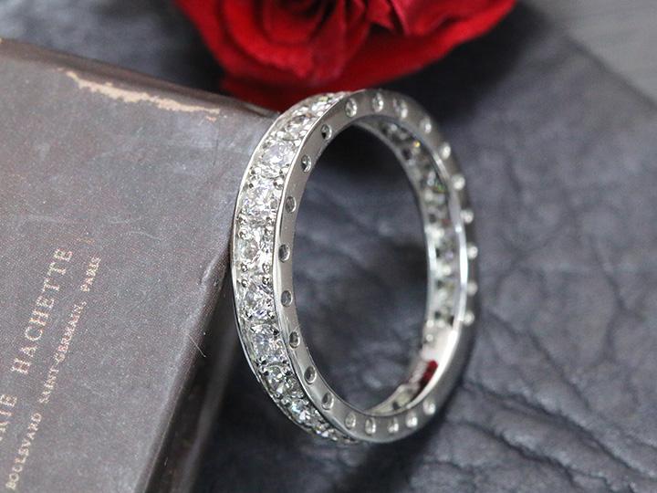 ★クーポンで20%OFF対象★ダイヤモンド1.01ct 1カラットフルエタニティ サイドのデザインも魅力 PT900リング 指輪 重ねつけ 記念日 受注品 /Ycollectionワイコレクション/送料無料