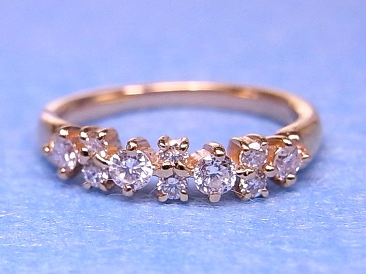 ★クーポンで20%OFF対象★K18(WG・PG・PT900) ダイヤモンド(ダイアモンド)0.30ct 1~9号で作成可 ピンキーリング/指輪 ピンクゴールド 18金 受注品/Ycollectionワイコレクション/送料無料