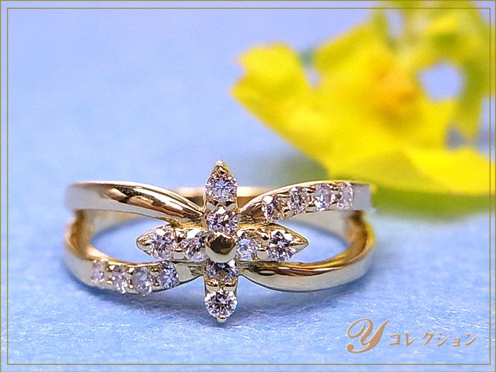 ★クーポンで20%OFF対象★K18(WG・PG・PT900) ダイヤモンド(ダイアモンド)0.20ct 1~9号で作成可 ピンキーリング/指輪 イエローゴールド 18金 受注品/Ycollectionワイコレクション/送料無料