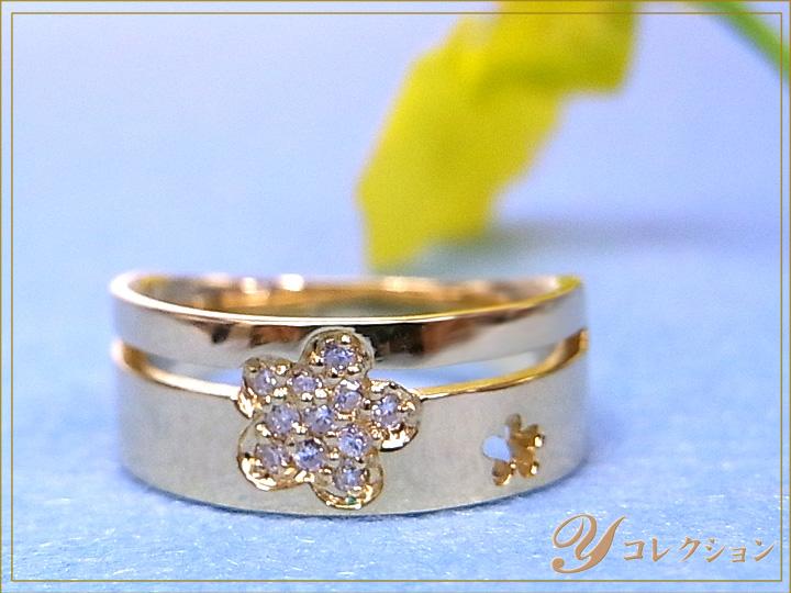 ★クーポンで20%OFF対象★K18(WG・PG・PT900) ダイヤモンド(ダイアモンド)0.08ct 1~9号で作成可 ピンキーリング/指輪 イエローゴールド 18金 受注品/Ycollectionワイコレクション/送料無料