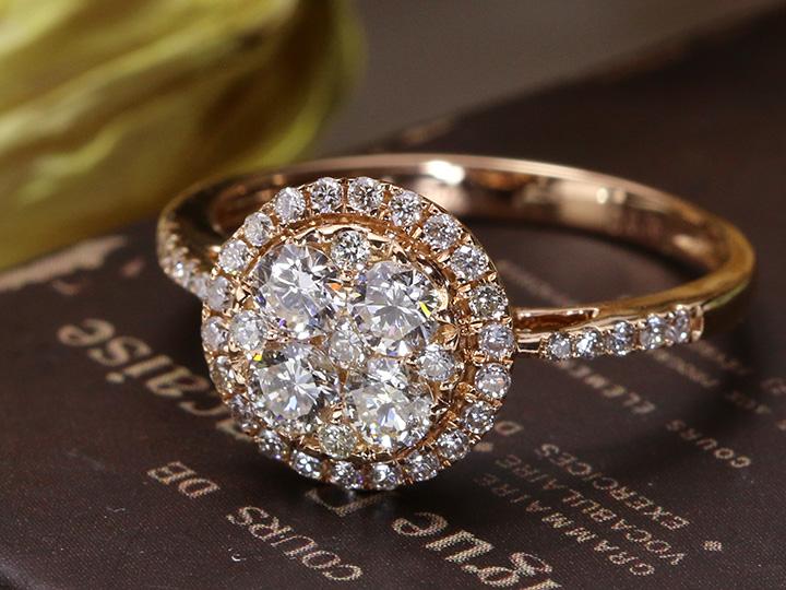 ★クーポンで20%OFF対象★びっしりダイヤモンド合計0.75ct K18PGピンクゴールドリング 眩しいほどにダイヤモンド尽くし★ 受注品/Ycollectionワイコレクション/送料無料