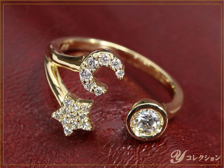 ★クーポンで20%OFF対象★ダイヤモンド0.27ctが煌めく K18YGリング 指輪 K18WG/PT900素材で制作可能 受注品/Ycollectionワイコレクション/送料無料