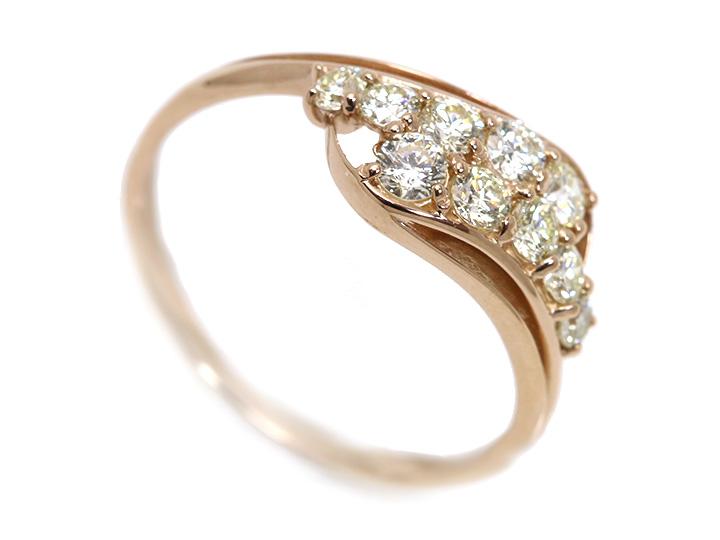スイートテンダイヤモンド0.50ct・アニバーサリーK18PGリング指輪(K18/WG各種素材対応可) 受注品/Ycollectionワイコレクション/