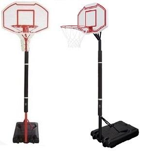 基本練習はこれ。レイアップの練習もOK ミニバス対応バスケットゴール(ポールパッド付) BG-260RD‐PD BG‐262BK‐PD 屋外 家庭用 バスケットボール ゴール リング プレゼント