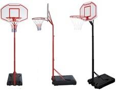 基本練習はこれ。レイアップの練習もOK ミニバス対応バスケットゴール BG-260RD BG‐262BK 屋外 家庭用 バスケットボール ゴール リング プレゼント