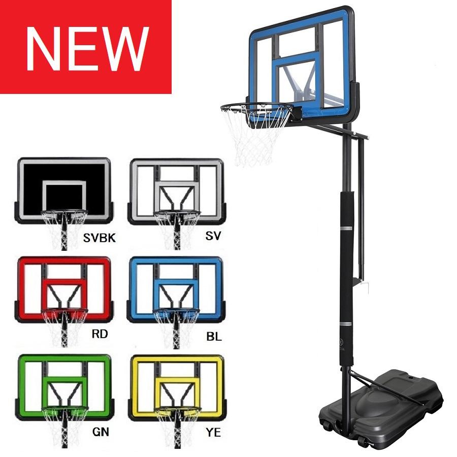ハンドルを回すだけで簡単に高さ調整が可能 ハンドル操作で楽々無段階高さ調節 BG-505 豊富なカラーバリエーション バスケットゴール 着後レビューで 送料無料 屋外 リング バスケットボール バックボード ゴール 家庭用 10%OFF