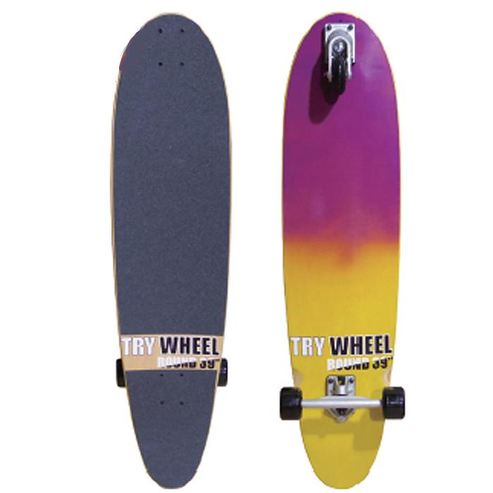 トライウィール (TRY WHEEL) スケートボード ラウンド 39インチ(99.0cm) ROUND《送料無料》/サーフ サーフィン サーファー スケートボード SKATEBOARD 練習 おすすめ カーバー サイズ ペニー