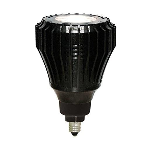 高演色LEDランプ中角配光 美術館向け 物販店向け ディスプレイ向け 調光可能 低ワット ライティングレール照明器具用 エコ之助プレミアム LEDランプ11W E11口金 電球色3000K(本体色・黒)