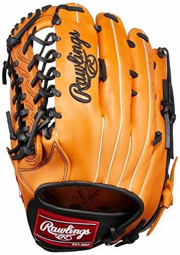 Rawlings(ローリングス) 野球 軟式用 HYPER TECH R2G COLORS ハイパーテックカラーズ (外野手用) 大人用 GRXHTCBH9 リッチタン/ブラック (サイズ 12.75) (12 3/4inch) RH(Left hand throw)左投用 左投げ