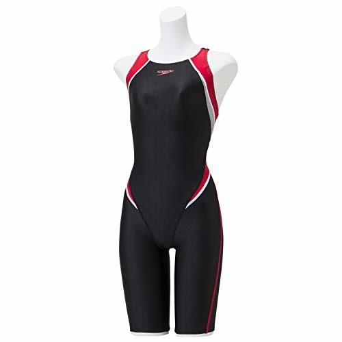 Speedo(スピード) 競泳水着 レディース セミオープンバックニースキン 4分丈 FLEXΣII フレックスシグマ2 FINA 承認モデル SCW11910F レッド RE SS