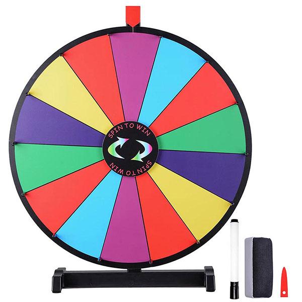 WinSpin ルーレット 決定ルーレット 罰ゲームルーレット 幸運ホイール抽選 LUCKY WHEEL 卓上用 24インチ