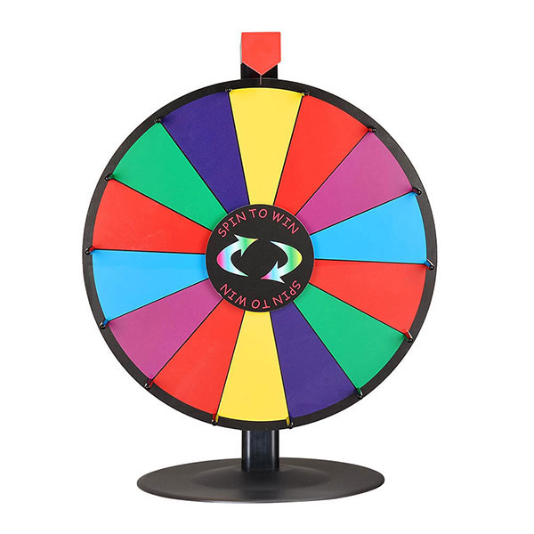 WinSpin ルーレット 決定ルーレット 罰ゲームルーレット 幸運ホイール抽選 LUCKY WHEEL ラウンドスタンド 卓上用 18インチ