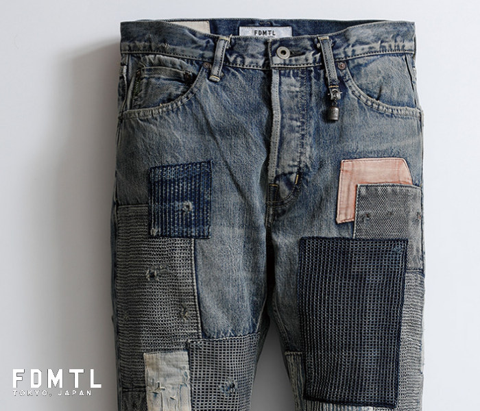 Product made in fa19mt56 SLIM FIT STRAIGHT DENIM CS56 patchwork remake  jeans Japan