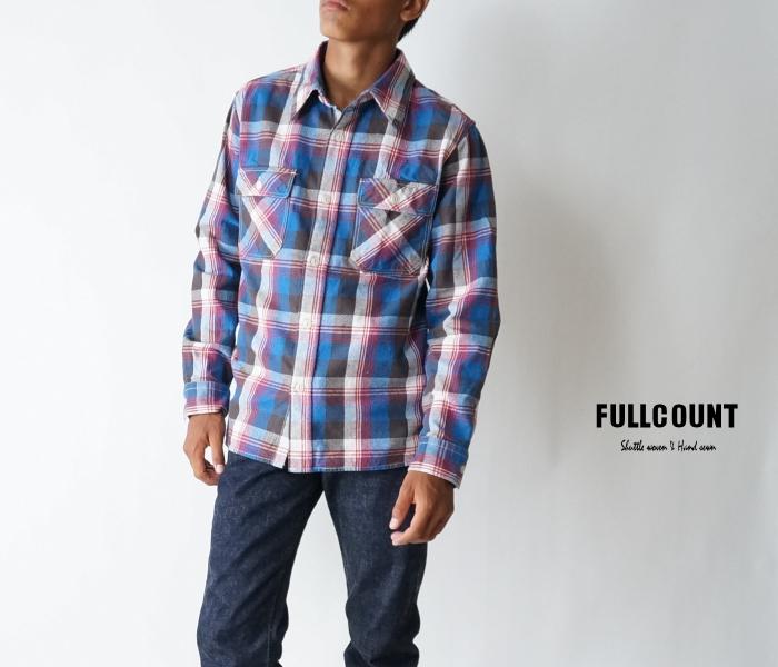 【FULLCOUNT(フルカウント)】4980ex2 25th Original Buffalo Check Nel Shirts オリジナルバファローチェックネルシャツ ブルーレッド【日本製】【送料無料】【smtb-kd】【長袖シャツ】【25TH ANNIVERSARY ITEM】【25周年限定商品】