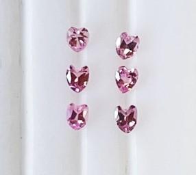 ペンダント ブローチに ピンクサファイア 公式通販 花びらカット 6個セット お歳暮 合計0.55ct
