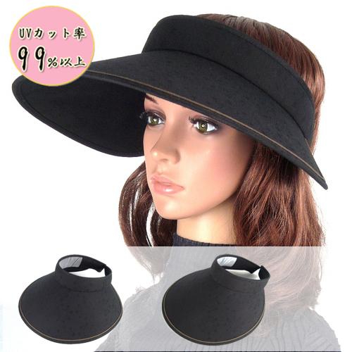 国内正規総代理店アイテム 送料当店負担 UVカット99%以上 紫外線対策 つば広バネ式サンバイザー 結婚祝い 紫外線カット 日よけ帽子
