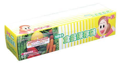 ジッパーバッグ リーチさん 食品保存袋 冷蔵庫用10P箱入 ケース販売 まとめ買い 業務用