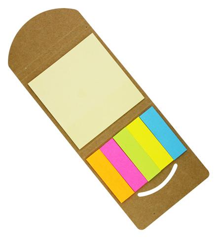 エコ・クラフト付箋メモ ケース販売 まとめ買い 記念品 粗品 販促 ノベルティ 粗品 記念品 ばらまき