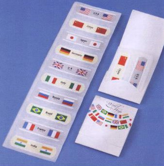 絆創膏 ワールドフラッグズN-(3) ケース販売 まとめ買い 業務用 販促 ばらまき ノベルティ 粗品 記念品