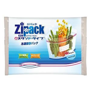 ジパック・スタンドタイプ冷凍保存パック5枚入  フリーザーバッグ ケース販売 まとめ買い