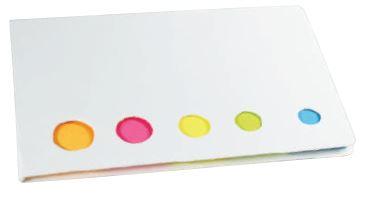 5色付箋メモ(白)(ケース単位販売) 02P03Dec16