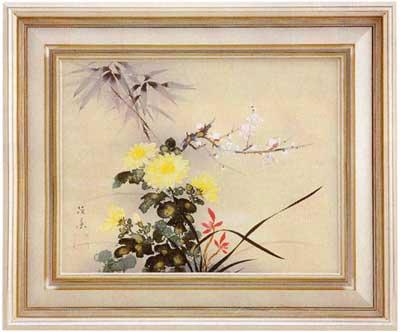 6号日本画 菊地径葉・作「四君子」