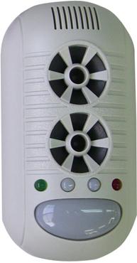 スピーカーがダブル ナイトライト搭載 マーケット ねずみが嫌がる超音波 今だけ限定15%OFFクーポン発行中 ネズミ撃退器SV-3017 電磁波ダブルスピーカー