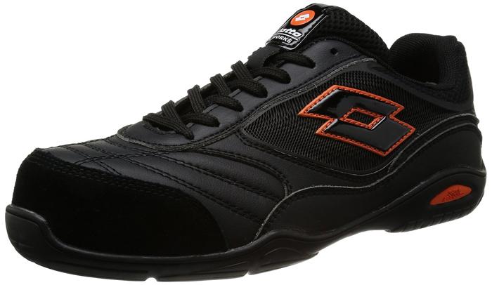 【頑張って送料無料!】lotto WARKS(ロットワークス)ENERGYLQ2004 ブラックイタリア ロット社のおしゃれな安全靴ISO20345ヨーロッパ基準のフルスペック設計