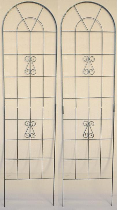 2Wワイヤーフェンス 50×200cm 2個セット 184 組立式仕切やトレリスとしても使えます!ダブルワイヤーなので丈夫!差し込むだけで完成!